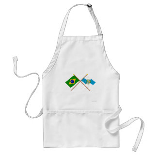 Crossed Flags of Brazil and Rio de Janeiro Adult Apron