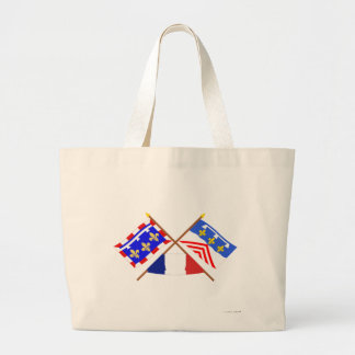 Crossed flags of Centre and Eure-et-Loir Canvas Bag