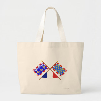 Crossed flags of Centre and Indre-et-Loire Tote Bag