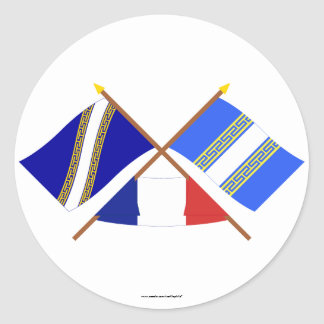 Crossed flags of Champagne-Ardenne and Haute-Marne Sticker