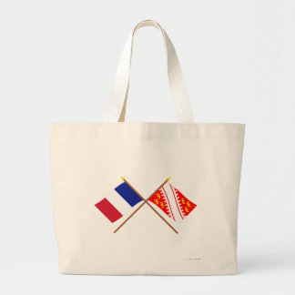 Crossed flags of France and Alsace Bag