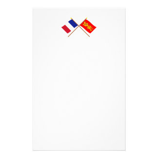Crossed flags of France and Aquitaine Stationery
