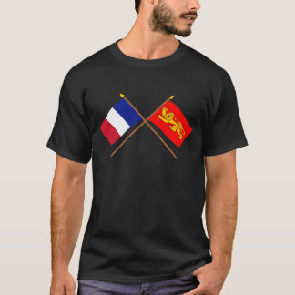 Crossed flags of France and Aquitaine T-Shirt