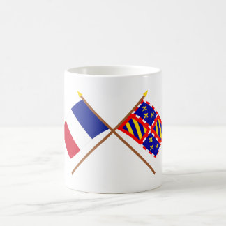 Crossed flags of France and Bourgogne Classic White Coffee Mug