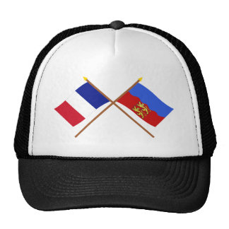 Crossed flags of France and Calvados Mesh Hat