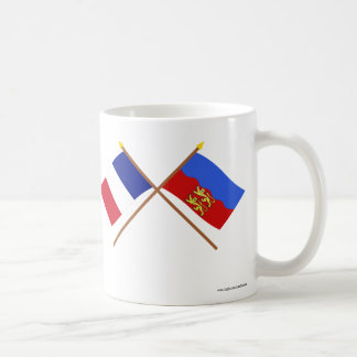 Crossed flags of France and Calvados Coffee Mugs