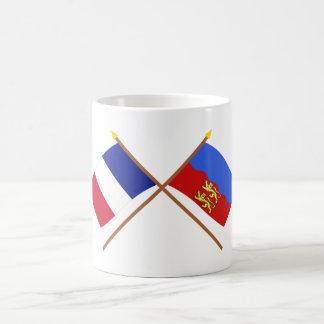 Crossed flags of France and Calvados Coffee Mug