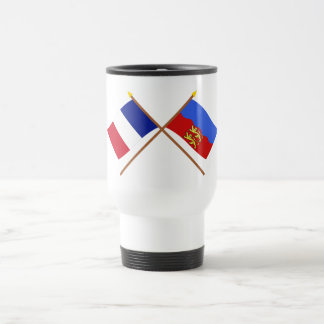 Crossed flags of France and Calvados Mugs