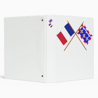 Crossed flags of France and Centre Binder