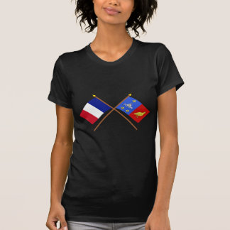 Crossed flags of France and Charente-Maritime T-Shirt
