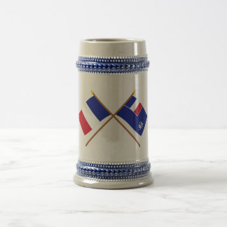 Crossed flags of France and French Southern and An Mug