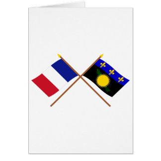 Crossed flags of France and Guadeloupe Card