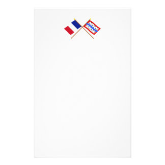 Crossed flags of France and Haute-Vienne Stationery
