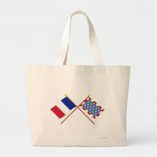 Crossed flags of France and Indre-et-Loire Bag