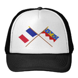 Crossed flags of France and Jura Mesh Hats