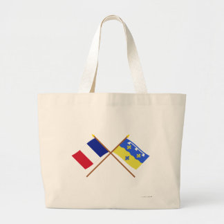 Crossed flags of France and Loir-et-Cher Canvas Bag