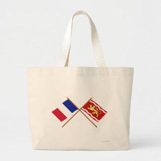 Crossed flags of France and Lot-et-Garonne Bag