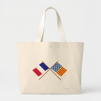 Crossed flags of France and Lozère Tote Bag