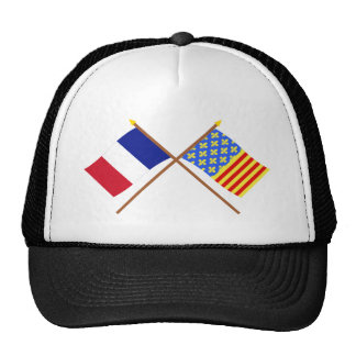 Crossed flags of France and Lozère Trucker Hat