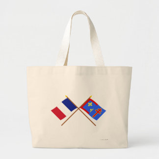 Crossed flags of France and Maine-et-Loire Tote Bag