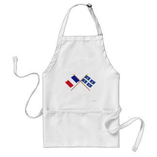 Crossed flags of France and Martinique Adult Apron