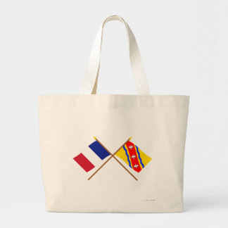 Crossed flags of France and Meurthe-et-Moselle Tote Bag