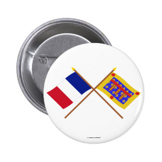 Crossed flags of France and Pas-de-Calais Pins