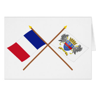 Crossed flags of France and Saint-Barthelemy Card