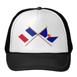 Crossed flags of France and Saint-Martin Trucker Hat