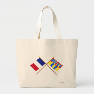 Crossed flags of France and Saône-et-Loire Canvas Bags