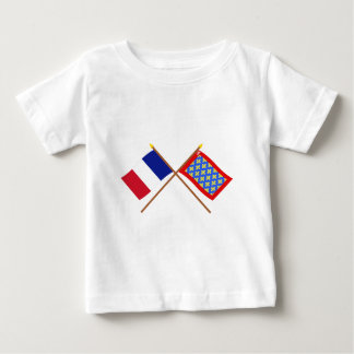 Crossed flags of France and Sarthe Tees