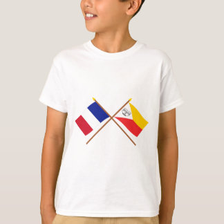 Crossed flags of France and the Marquesas Islands T-Shirt