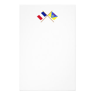 Crossed flags of France and Var Stationery