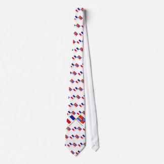 Crossed flags of France and Vaucluse Neck Wear