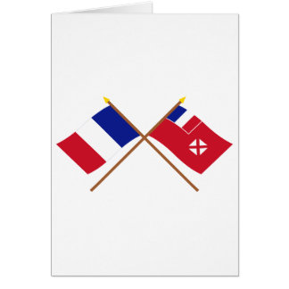 Crossed flags of France and Wallis and Futuna Card