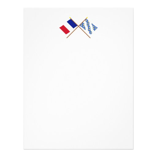 Crossed flags of France and Yvelines Letterhead