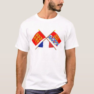 Crossed flags of Haute-Normandie and Eure T-Shirt