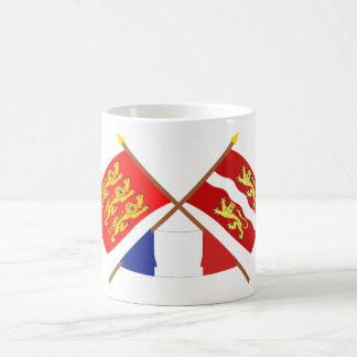 Crossed flags of Haute-Normandie & Seine-Maritime Coffee Mug