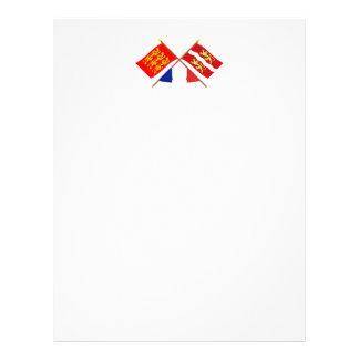 Crossed flags of Haute-Normandie & Seine-Maritime Letterhead