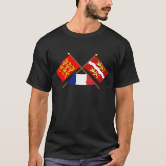 Crossed flags of Haute-Normandie & Seine-Maritime T-Shirt