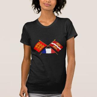 Crossed flags of Haute-Normandie & Seine-Maritime T-shirt