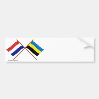 Crossed flags of Holland and Gelderland Bumper Sticker