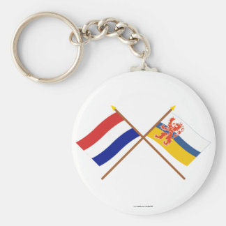 Crossed flags of Holland and Limburg Key Chains