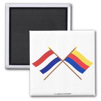 Crossed flags of Holland and Noord-Holland Magnet