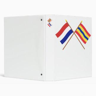 Crossed flags of Holland and Overijssel Binder