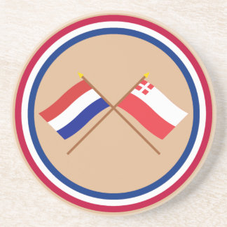 Crossed flags of Holland and Utrecht Drink Coaster
