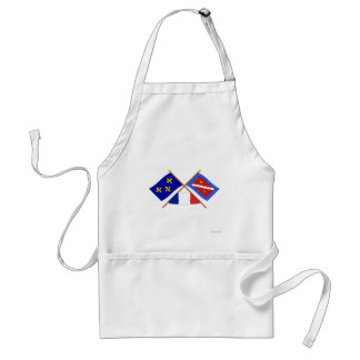 Crossed flags of Île-de-France and Val-d Oise Apron