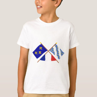 Crossed flags of Île-de-France and Yvelines T-Shirt