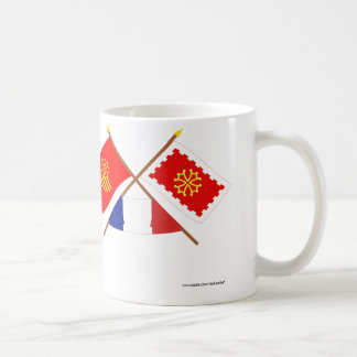Crossed flags of Languedoc-Roussillon and Aude Coffee Mug