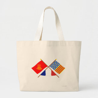 Crossed flags of Languedoc-Roussillon and Lozère Bags